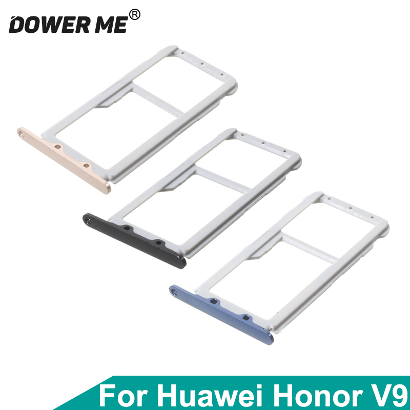 Dower Me Dual Sim Card SIM Tray + MicroSD Card Holder Adapters For Huawei Honor V9