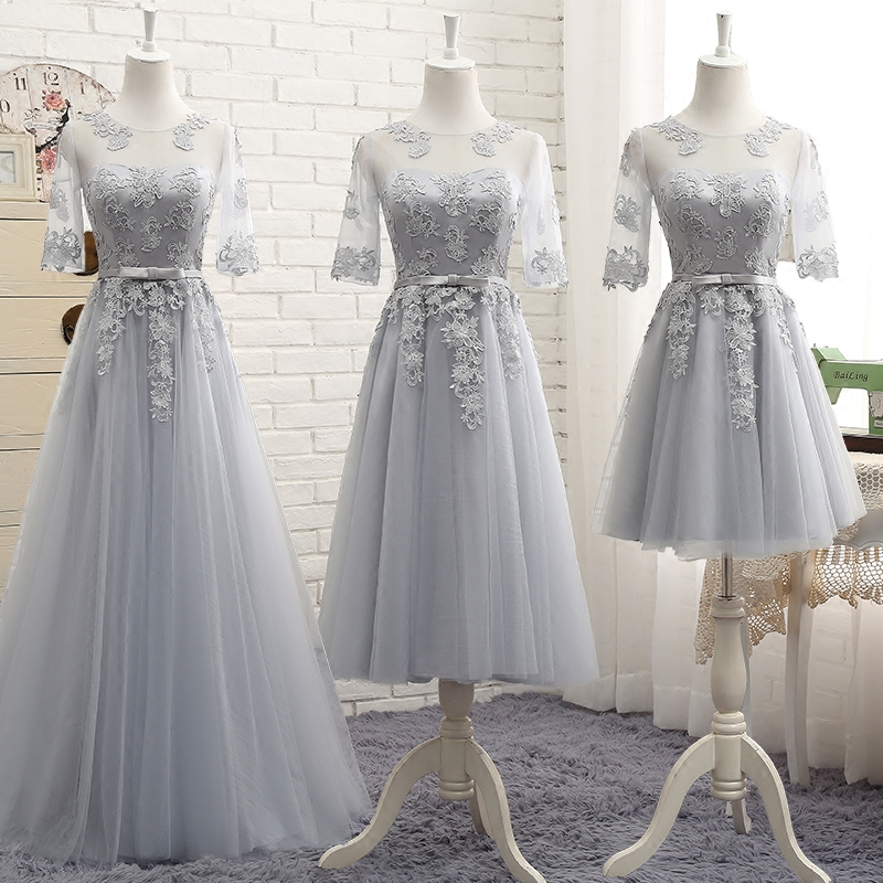 Angel married elegant bridesmaid dresses half sleeve wedding party dress  junior wedding guest dress vestido de festa 2018 f19a4e46c42d