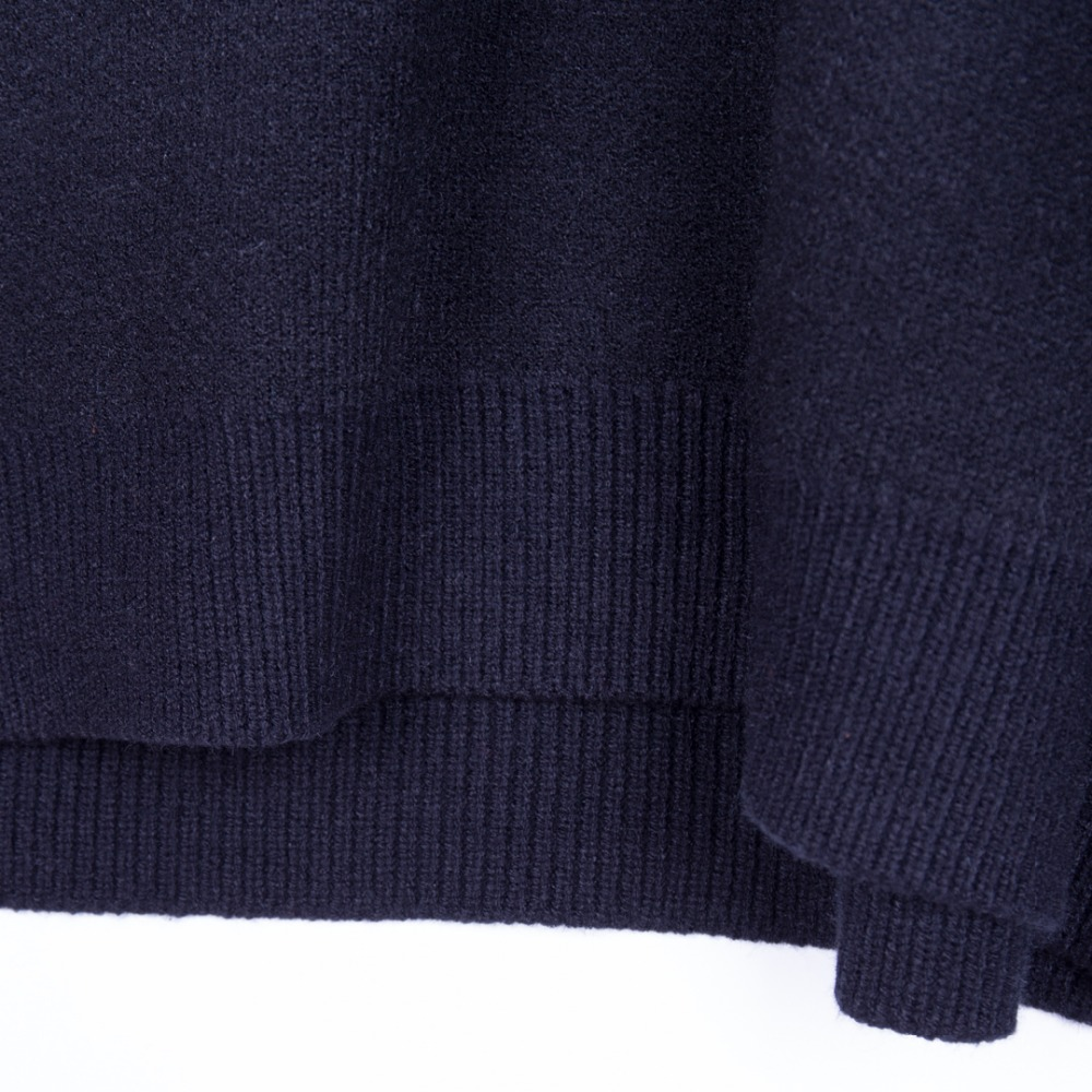 blanc Feu Conception Le 2018 Tricot Rétro Lettre Noir Pull Femelle Long Moyen Vent Grande Lâche Battre Taille wrqxUwpav