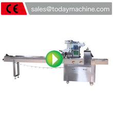 Horizontal Flow Wrappers for Energy bars Cookies and Muffins product Today Machine