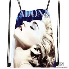 Custom Madonna@1 Drawstring Backpack Bag Cute Daypack Kids Satchel (Black Back) 31x40cm#2018612-01-(15)