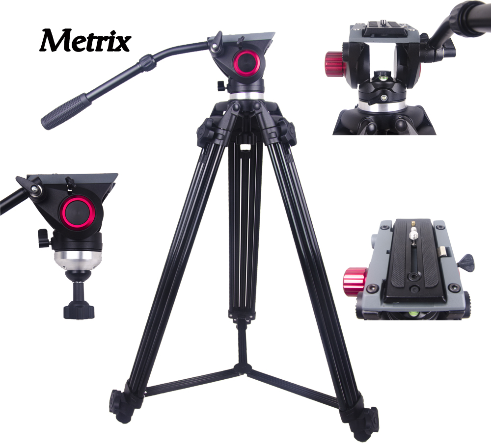 купить MTX718 Professional Tripod camera tripod Video Tripod Dslr VIDEO Tripod Fluid Head Damping PK miliboo MTT609A Manfrotto