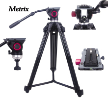 MTX718 Professional Tripod camera tripod Video Tripod Dslr VIDEO Tripod Fluid Head Damping for video digital SLR DSLR camera puluz heavy duty video camera tripod action fluid drag head with sliding plate for dslr