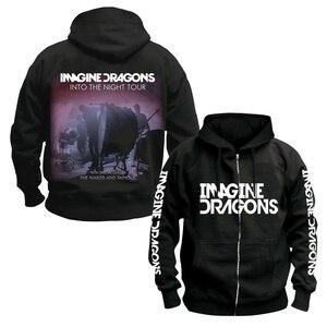 Image 3 - Bloodhoof Imagine Dragons ร็อคอินดี้ Alternative ROCK Punk band ชายผ้าฝ้ายสีดำ Hoodie ขนาดเอเชีย
