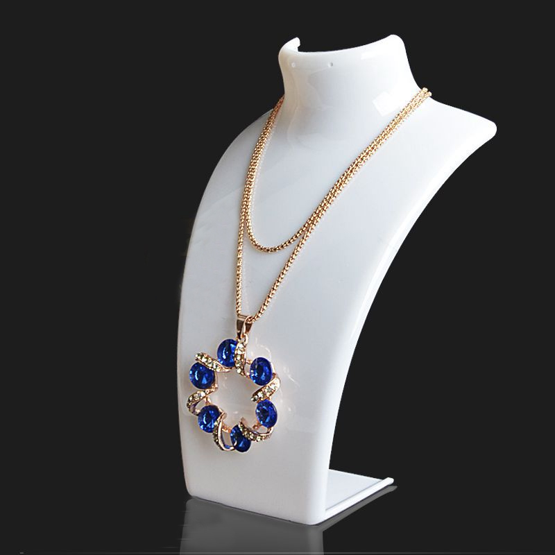 Wholesale 10PCS Acylic Necklace Display Shelf Stand Holder Fashion Jewelry Display Shelf Pendant Display Rack Earrings