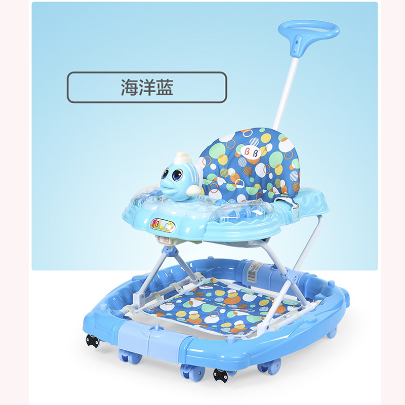 Homme et femme bébé universel walker est livré avec musique multi-fonction enfants bébé voiture pliante chaise berçante bébé jeu voiture