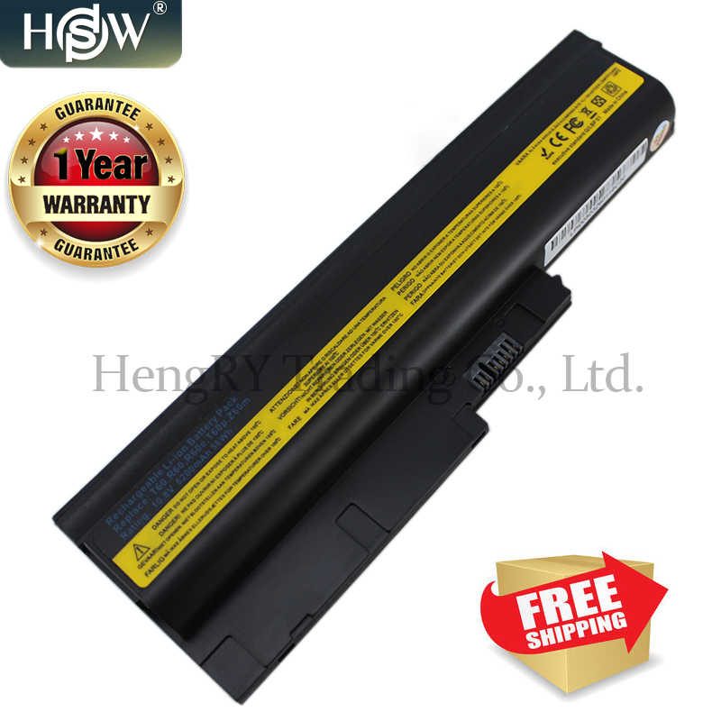 HSW bateria 5200 mAh dla IBM Lenovo ThinkPad R60 R60e R61 R61e R61i T60 T60p T61 T61p R500 T500 W500 SL400 SL500 SL300