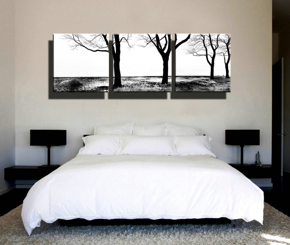 Online Buy Wholesale living tree picture from China living tree   3 piece decorative black white art print painting poster abtract artwork  cheap canvas wall art tree. Black And White Wall Pictures For Living Room. Home Design Ideas