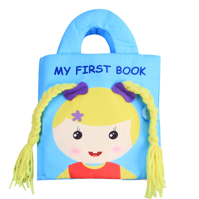 Children'S Practice Hands Cloth Books My First Book Braid Girl Learning Resources Baby Development Kids Stimulation Sensorial