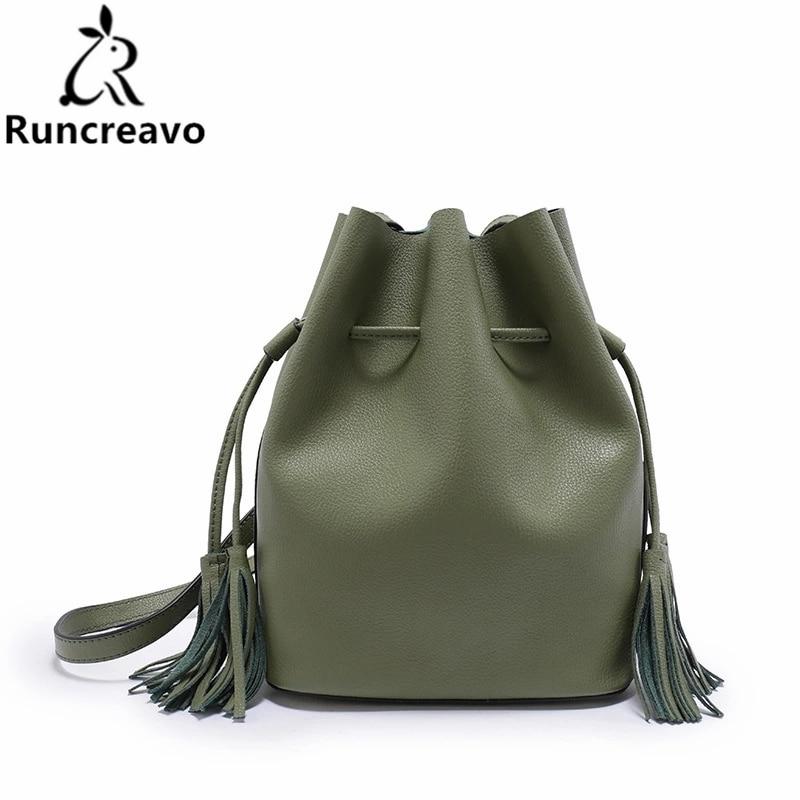 2018 new genuine leather handbag plain drawstring wild shoulder Messenger bucket bag luxury handbags women bags designer men drawstring plain jeans