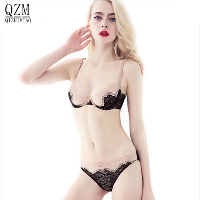 Qizhimiao Sets Sexy Bra Sets Ultrathin And Transparent -4102