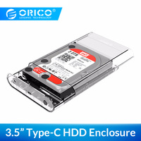 ORICO 3139C3 Type C External Hard Drive Enclosure 3.5 inch  5Gbps SATA3.0 Support UASP 8TB Drives for Notebook Desktop PC|HDD Enclosure|Computer & Office -
