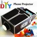 Мини картон смартфон проектор / сделай сам мобильный телефон жк-проектор портативный кино