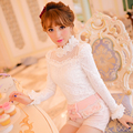 Princess sweet lolita shirt Candy rain Cute Japanese style new winter stand collar tights lace shirt C16CD6130