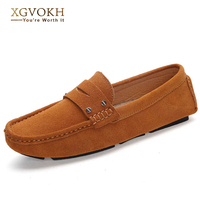 NEW Brand Men Loafers Flats Suede Slip On Driving Moccasins Casual Male Soft Breathable Boat Shoes