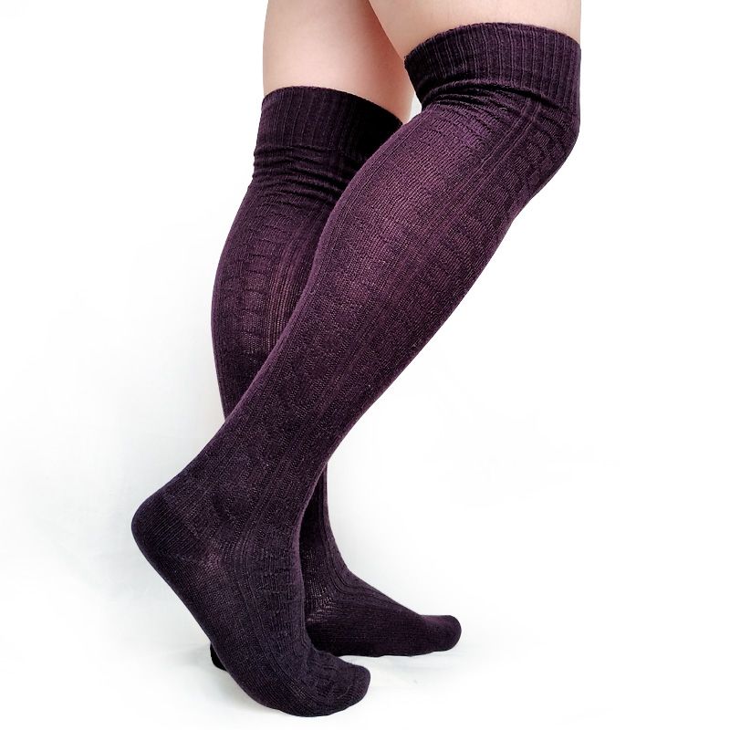 Cotton Knit Warm Winter Long socks for Men Over the Knee Sexy Thick Male Formal Dress Stocking Hose Thermal Man Stocking Sox in Men 39 s Socks from Underwear amp Sleepwears