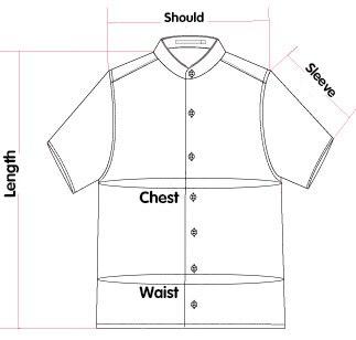 短袖尺寸线图