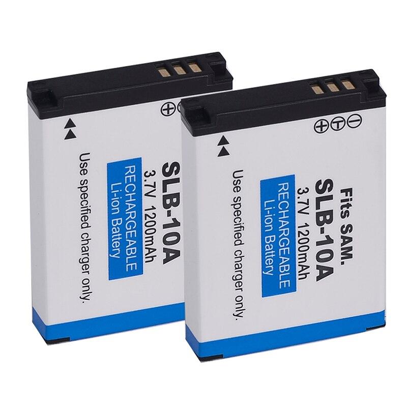 ABHU-2x For Samsung SLB-10A Battery  WB150F WB280F WB201F WB2100 WB800F EX2F