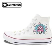 e8dad86feb1a1d Unisex Design Converse Chuck Taylor Shoes One Piece Tony Chopper Anime  White Black Canvas Sneakers High