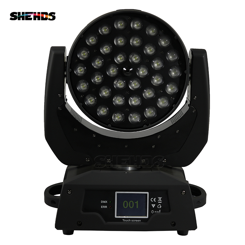 Free Shipping LED 36x18W Led Zoom Moving Head 6in1 RGBWA UV Wash DMX Controller For NightClub
