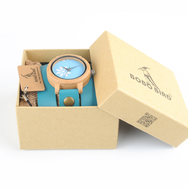 Image 5 - BOBO BIRD M22 Handmade Women Unique Wood Watch Fashion Brand For Ladies Watch With Quartz Movement Montres femmes With Gift Box-in Women's Watches from Watches