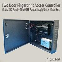 Inbio260 Tcp/Ip двойная дверь Система контроля доступа двухдверная тумба контроллер доступа системы защиты + резервная батарея Функция мощности