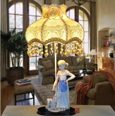 Европейский пастырской керамические декоративные лампы. Спальня ночники. Свадебный подарок lamp001