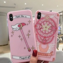 Japan Anime Cartoon Magic array For iPhone XS Max case Wand glass beautiful Star month Cover Iphone 6 6S 7 8 plus X XR