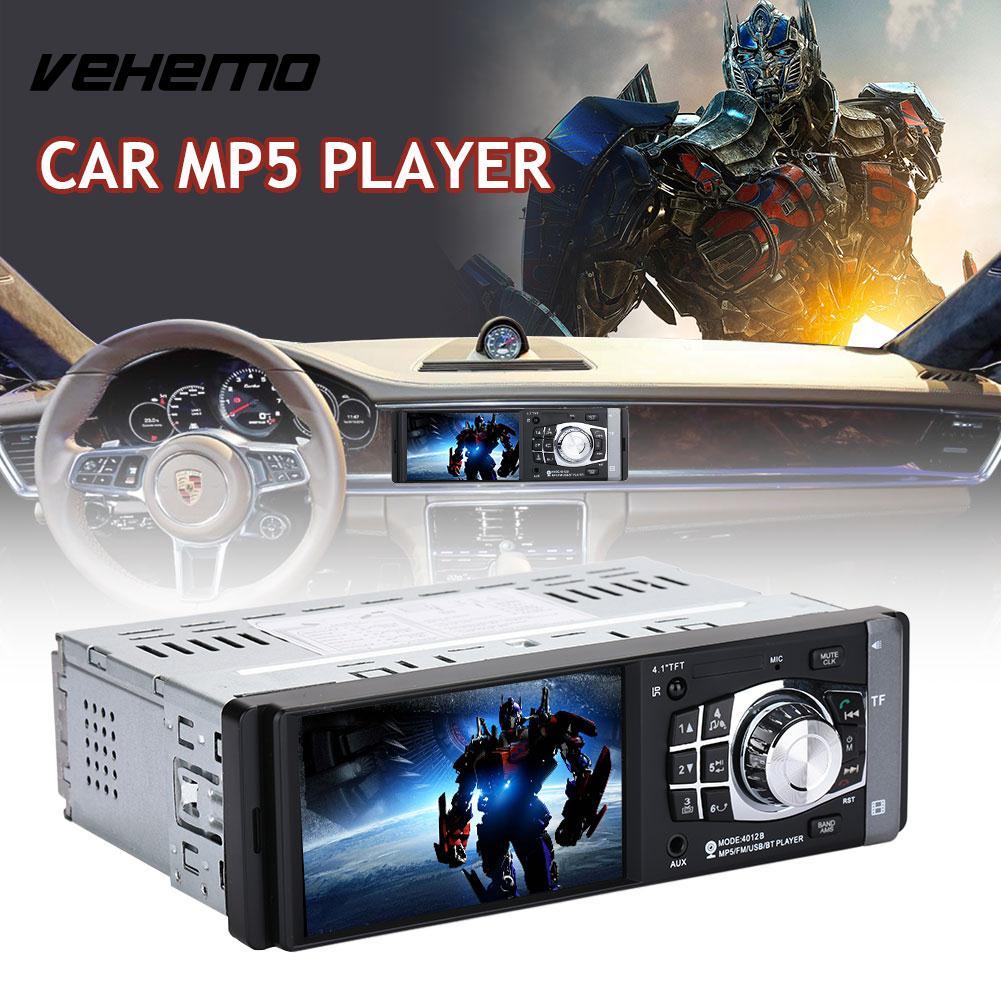 Vehemo Automobile USB AUX lecteur multimédia voiture MP5 1Din avec télécommande lecteur vidéo 4012B supporte l'image inverse