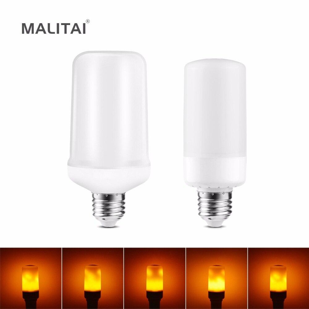 LED Flame Effect Fire light Bulb E27 E26 E14 B22 Creative Novety Night light Emulation Fire Flickering Decoration lamp 110V 220V fire granny 2018 11 20t20 00