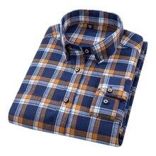 DAVYDAISY 2018 New Arrival Autumn Winter High Quality Men Shirts Long Sleeve 100% Cotton Classical Man Plaid Causal Shirt DS265