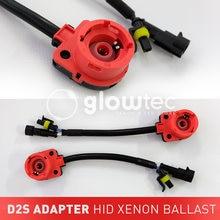 2 sztuk D2 D2C D2S D2R Adapter AMP przejściówka do gniazda kabel ksenonowe uprząż drutu HID podstawa żarówki Adapter akcesoria samochodowe GLOWTEC