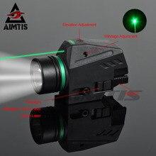 كشاف ضوئي LED تكتيكي من ايمتيس لأشعة الليزر الأخضر/الأحمر لسكة 20 مللي متر مسدس مسدس مسدس مسدس مسدس ضوء الفانوس Airsoft