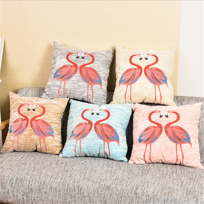 Idyllic birds flowers Pillowcase Car cushion pillow case sofa decoration bedroom cute 45x45cm