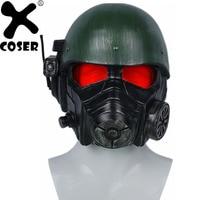 XCOSER Fallout 4 Veteran Ranger Helmet Game Cosplay Full Head Headwear Riot Armor Halloween Party Cosplay Costume Props For Men