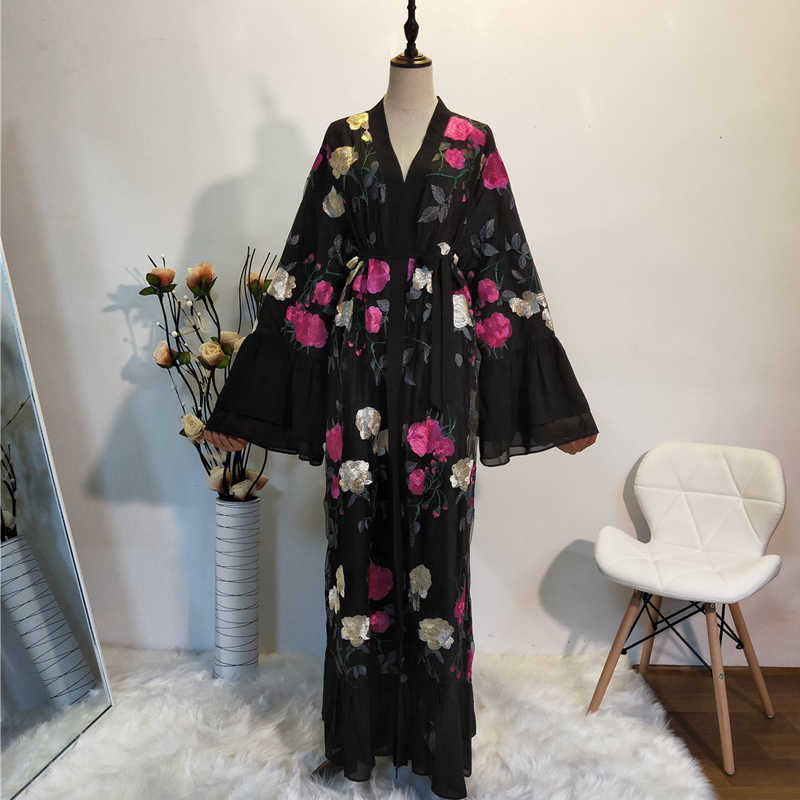 رداء العباءة الرمضانية كيمونو دبي لباس مسلمي للنساء قفطان قفطان ماروكين قطر ملابس إسلامية تركية
