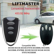 3 Buttons 12V DC Garage Door Remote Control 433.92Mhz For Chamberlain Liftmaster Motorlift