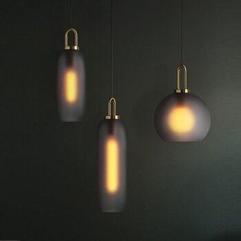 פוסט מודרני תוספות אור יוקרה תליון אורות מסעדת מנורת סלון בר חדר אוכל זכוכית כדור יחיד ראש תליית מנורות