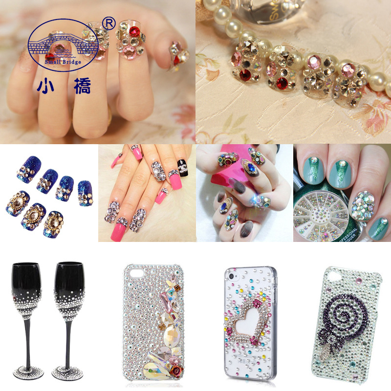 Купить с кэшбэком SS4-SS20 Mixed Size Non HotFix Nail Rhinestones Flatback Glass Gems White AB Crystal Rhinestones For Clothing 1000PCS/LOT S014