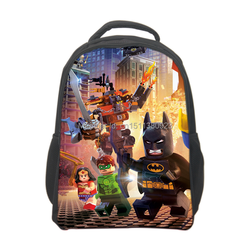Free Shipping Lego Movie Backpack for Boys Lego School bags Kids Cartoon Bookbags Children School Bags Mochila Lego Backpack 3d car styling children school bags for teenagers boys kids cartoon backpack book bag large capacity mochila escolar