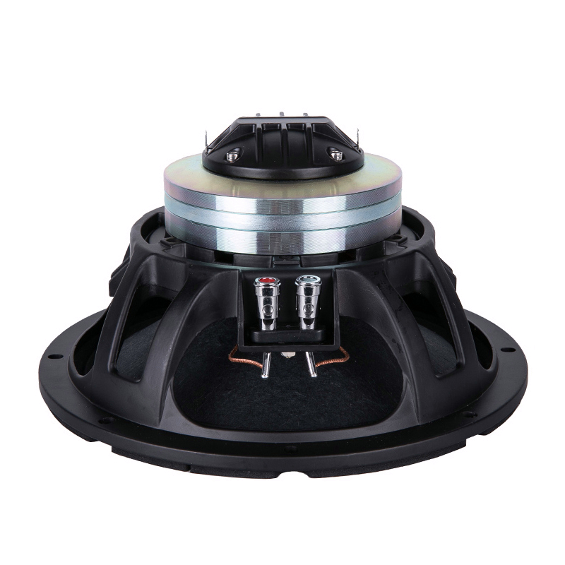 Finlemho DJ Speaker 10 Inch Woofer 65mm Voice Coil Horn Tweeter Coaxial For Studio Home Theater