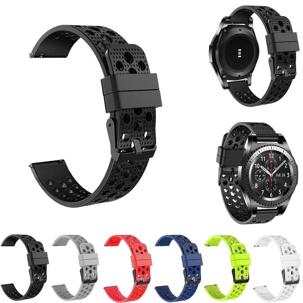 シリコンブレスレットストラップ時計バンド用サムスンギアs3フロンティアクラシック22ミリメートルシリコーンゴム時計バンドストラップギアs3クラシックリージュ大時計2017