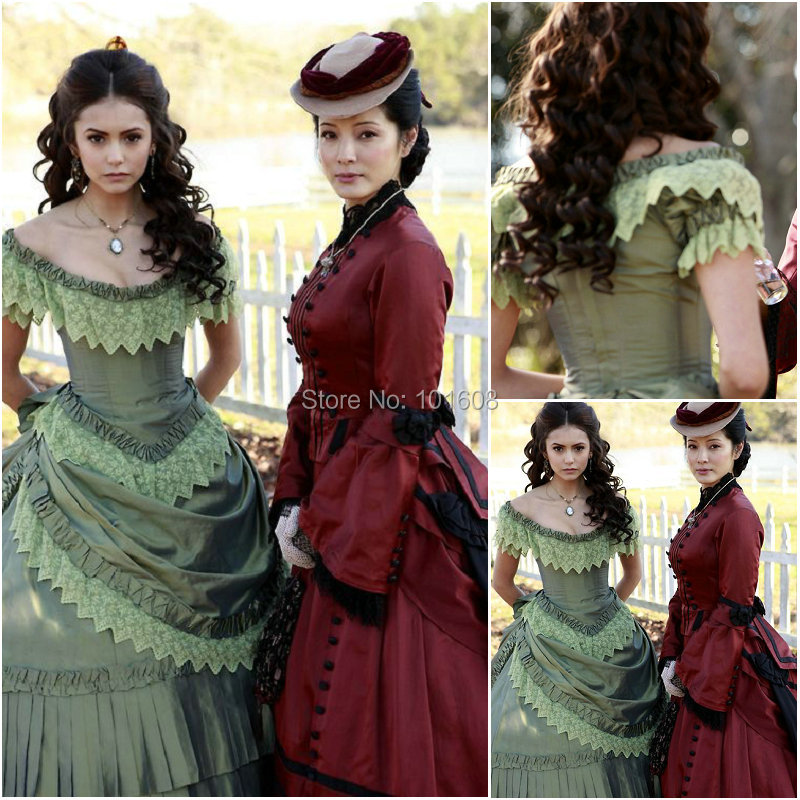 Aliexpress.com : Buy Historical!19 Century Red Vintage Costumes ...