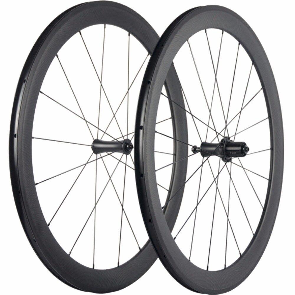 Ceramica R7 Mozzo Ruote In Carbonio 50mm Ruote di Bicicletta 700C Wheelset del Carbonio Della Graffatrice Della Bici Della Strada Compatibile