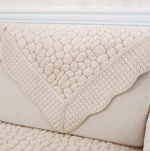 Fyjafon 1 Piece Warm Sofa Cover Reversible Sofa Towel Armrest Slipcover Plush Backrest Covering Sofa Towel Pillowcase