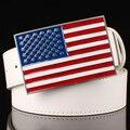 Personalidad de la moda cinturón de hebilla de Metal correas de los hombres de la bandera Americana mujeres de la Correa Decorativa hippie Calle hip hop