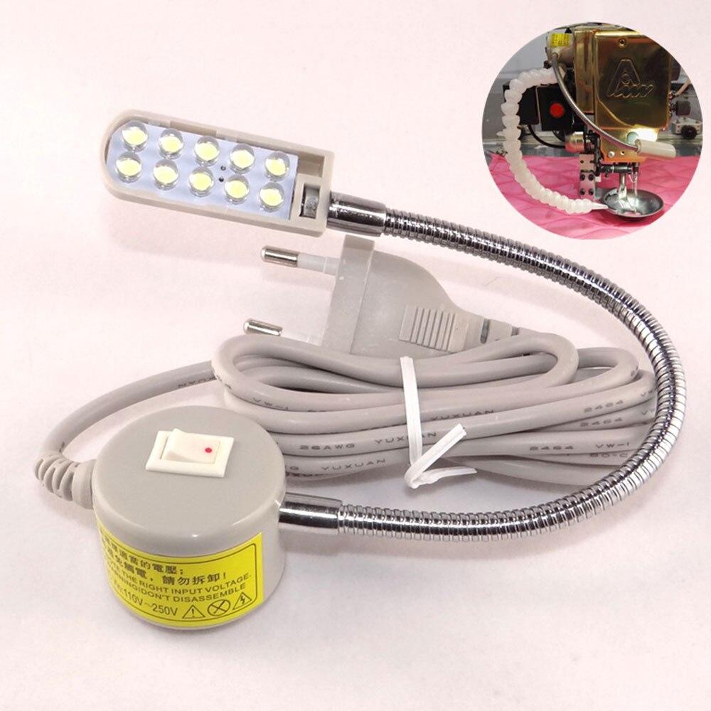 Светодиодный лампы швейная лампа на гибкой ножке магнитное крепление, бежевого и белого цветов инструменты регулируемый