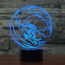 Nifty Surfing 7 Changing Colors 3d illusion night lamp