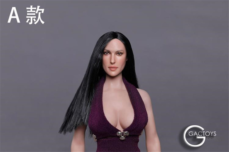 "GACTOYS 1//6 Female Head Carved Sculpt GC021E For 12/"" PHICEN Hot Toys Figure Body"