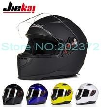 Fashion JIEKAI Full Face motorcycle helmet winter knight racing motorbike helmets made of ABS JK-313  four seasons size L XL